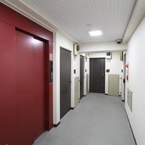 ライオンズマンション新富町第2(5階,5780万円)のフロア廊下(エレベーター降りてからお部屋まで)