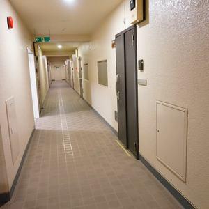 信濃町ハイム(4階,)のフロア廊下(エレベーター降りてからお部屋まで)