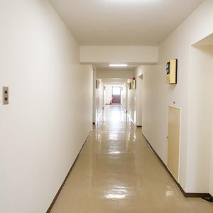 朝日中目黒マンション(12階,4490万円)のフロア廊下(エレベーター降りてからお部屋まで)