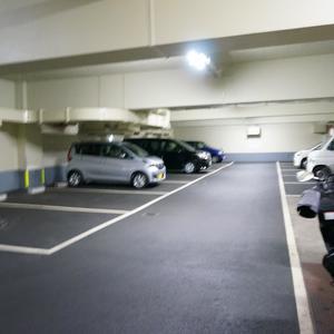 上落合ハイツの駐車場