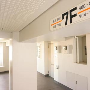 クレセントマンション(8階,7299万円)のフロア廊下