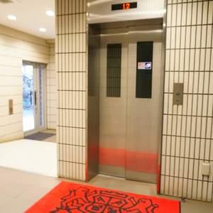 ライオンズマンション根岸東のエレベーターホール、エレベーター内