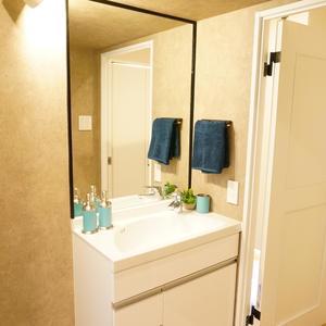 中銀マーブルマンシオン新宿5丁目(2階,3490万円)の化粧室・脱衣所・洗面室
