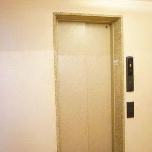 秀和富士見町レジデンスのエレベーターホール、エレベーター内