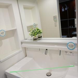 木場サニータウン1号棟(9階,3499万円)の化粧室・脱衣所・洗面室