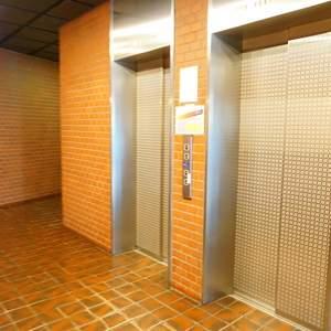 ストークマンション新宿のエレベーターホール、エレベーター内