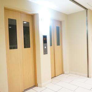 ファミール東銀座グランスイートタワーのエレベーターホール、エレベーター内