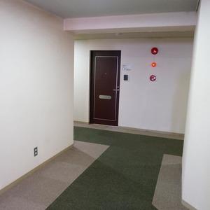 新神楽坂ハウスのフロア廊下(エレベーター降りてからお部屋まで)