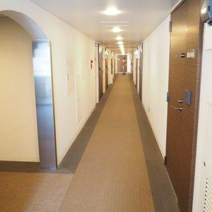 ルイマーブル乃木坂(4階,)のフロア廊下(エレベーター降りてからお部屋まで)