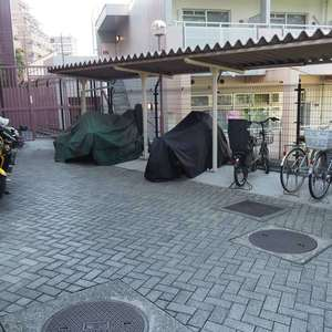 信濃町ハイムの駐輪場
