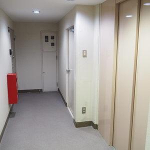 ロジマン御苑(6階,)のフロア廊下(エレベーター降りてからお部屋まで)
