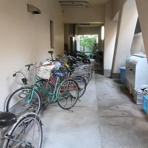 柳橋リバーサイドマンションの駐輪場