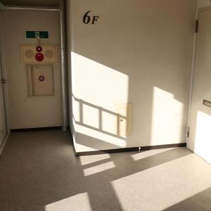 柳橋リバーサイドマンションのフロア廊下(エレベーター降りてからお部屋まで)