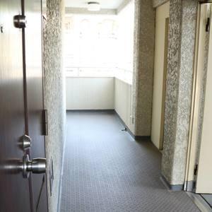 藤和白山コープ(2階,)のフロア廊下(エレベーター降りてからお部屋まで)