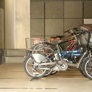 東急ドエルアルス白山の駐輪場