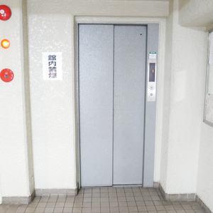 シャルム錦糸町のエレベーターホール、エレベーター内