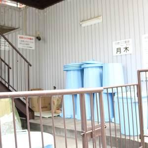 マンション小石川のごみ集積場