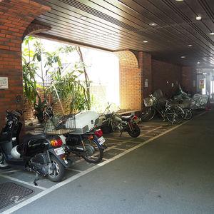 ハイネスロフティの駐輪場