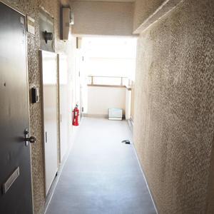 ハイネスロフティ(9階,)のフロア廊下(エレベーター降りてからお部屋まで)