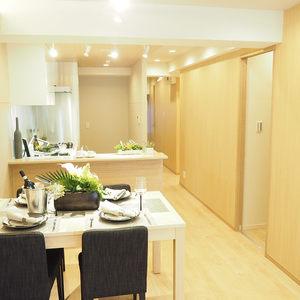 ライオンズマンション代々木(1階,)の居間(リビング・ダイニング・キッチン)