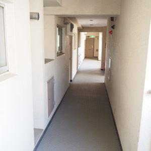 メゾンドール代々木(4階,)のフロア廊下(エレベーター降りてからお部屋まで)