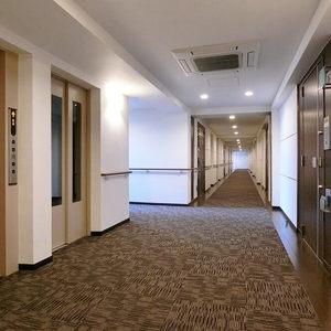 レクセル高田馬場(6階,6660万円)のフロア廊下(エレベーター降りてからお部屋まで)