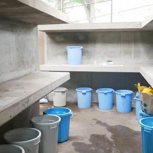 ファミール亀戸のごみ集積場