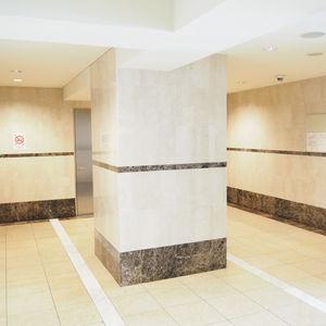 パレステュディオ六本木イースト2のエレベーターホール、エレベーター内