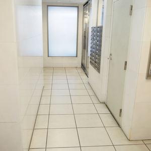 デュオスカーラ西麻布タワーEASTのエレベーターホール、エレベーター内