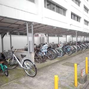 高田馬場住宅の駐輪場