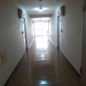 メゾンドール高田馬場(3階,3399万円)のフロア廊下(エレベーター降りてからお部屋まで)