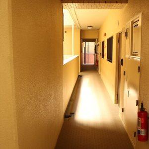 ライオンズマンション護国寺第3(2階,3380万円)のフロア廊下(エレベーター降りてからお部屋まで)