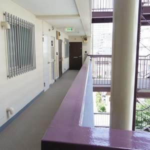 中野スカイハイツ(6階,)のフロア廊下(エレベーター降りてからお部屋まで)