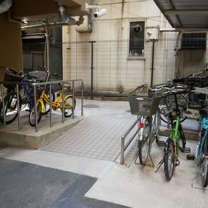 安田小網町マンションの駐輪場