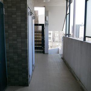 グリーンパーク天神(8階,)のフロア廊下(エレベーター降りてからお部屋まで)