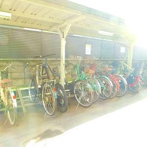 トーア早稲田マンションの駐輪場