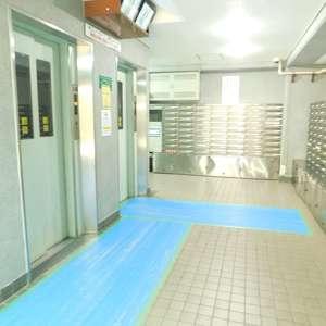 トーア早稲田マンションのエレベーターホール、エレベーター内
