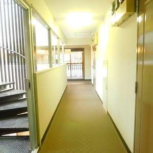 サンパティオ高田馬場(2階,)のフロア廊下(エレベーター降りてからお部屋まで)