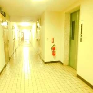 サンパティオ高田馬場のエレベーターホール、エレベーター内