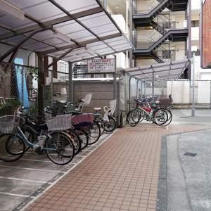 シャンボール菊川の駐輪場