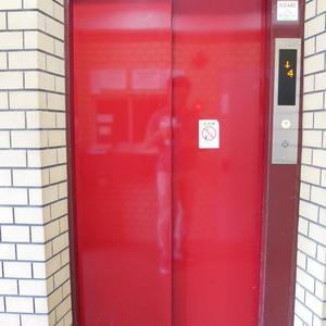 シャンボール菊川のエレベーターホール、エレベーター内