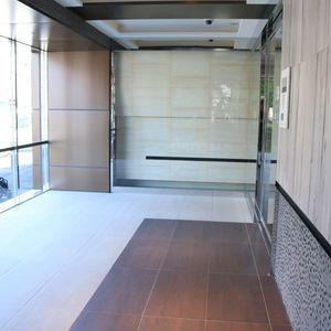ウィルローズ市谷柳町のエレベーターホール、エレベーター内