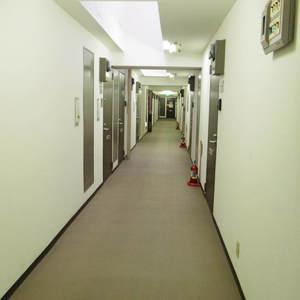 ハイネス野方(2階,2380万円)のフロア廊下(エレベーター降りてからお部屋まで)