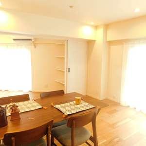 戸山マンション(2階,4299万円)の居間(リビング・ダイニング・キッチン)
