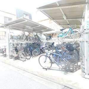 戸山マンションの駐輪場