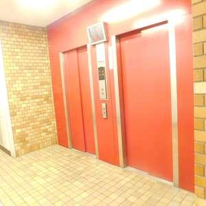 メゾンサンシャインのエレベーターホール、エレベーター内