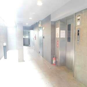 エクセルシオール新宿西戸山のエレベーターホール、エレベーター内