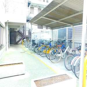 シルバープラザ新宿第2の駐輪場