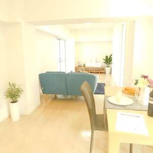 新宿フラワーハイホーム(8階,)の居間(リビング・ダイニング・キッチン)
