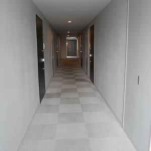 レヴィ亀戸(6階,5090万円)のフロア廊下(エレベーター降りてからお部屋まで)